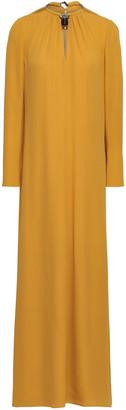 Valentino Embellished Silk-crepe Maxi Dress