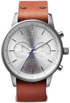 Triwa Stirling Brown Nevil Men's Chronograph Watch Organic Leather Strap NEST101 NA010212