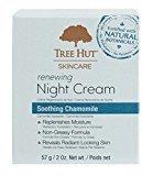 Tree Hut Night Cream Renewing 2 Ounce Jar (Chamomile) (59ml) (3 Pack)