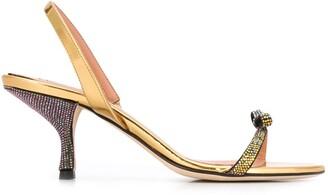 Marco De Vincenzo Crystal Bow 80mm Sandals