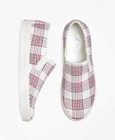 Brooks Brothers Plaid Canvas Sneakers