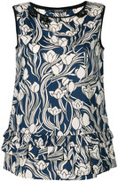 Max Mara floral print round neck blouse - women - Cotton - 38