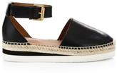 See by Chloe Glyn Leather Flatform Espadrilles