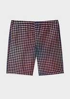 Paul Smith Men's Blue Mid-Length Rainbow Check Shorts
