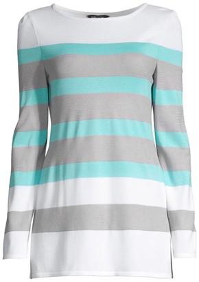 Misook Bold Striped Knit Top