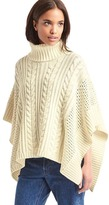 Gap Cableknit turtleneck poncho