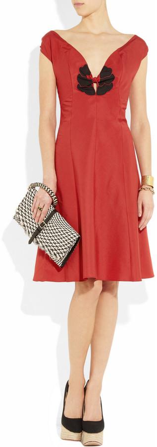Yves Saint Laurent Cotton and silk-blend dress