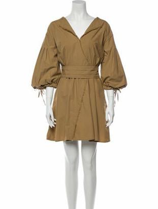 Tanya Taylor V-Neck Mini Dress Brown