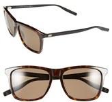 Christian Dior Men's '177S' 55Mm Polarized Sunglasses - Black