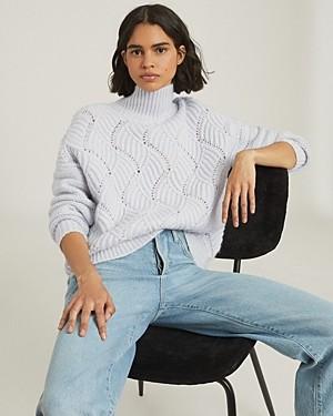 Reiss Ola Oversized Open Knit Sweater