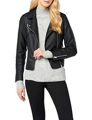 Only Women's Onlgemma Faux Leather Biker OTW Noos Jacket,(Size: 38)