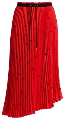 Proenza Schouler White Label Print Pleated Midi Skirt