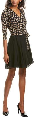 Diane von Furstenberg New Irina Silk-Trim Wrap Dress