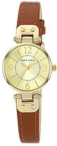Anne Klein Round Champagne Dial & Honey 3 Hand Leather Strap Watch