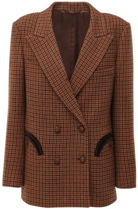 BLAZÉ MILANO Double Breasted Check Wool Jacket