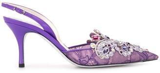 Rene Caovilla Embellishes Sling-Back Shoes