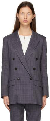 Etoile Isabel Marant Purple Check Leaganea Blazer