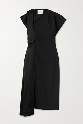Vivienne Westwood Paneled Crepe And Satin Dress - Black