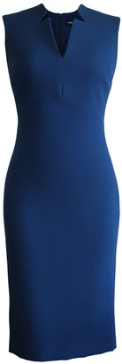 L'momo Sleeveless Notched Collar Pencil Dress