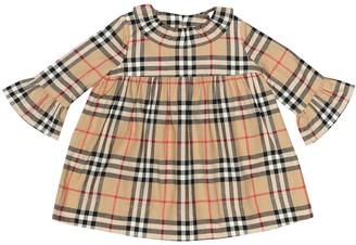 BURBERRY KIDS Baby Kitty Check cotton dress