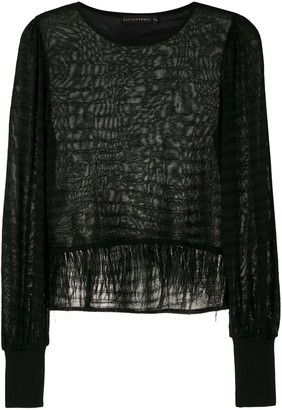 Cecilia Prado Nara feathers blouse