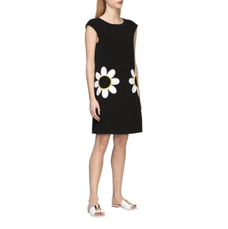 Boutique Moschino Cady Dress With Daisy Print