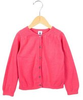 Petit Bateau Girls' Rib Knit Button-Up Cardigan