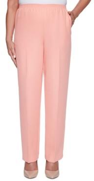 Alfred Dunner Petite Classics Straight-Leg Pull-On Pants