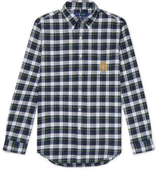 Polo Ralph Lauren Button-Down Collar Checked Cotton-Twill Shirt