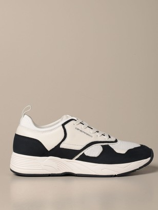 Emporio Armani Sneakers Sneakers In Suede Leather And Mesh