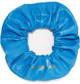 Balenciaga Chouchou Textured-leather Hair Tie - Azure