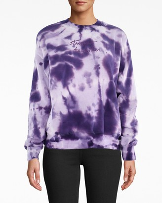 Nicole Miller stronger Together Embroidered Sweatshirt