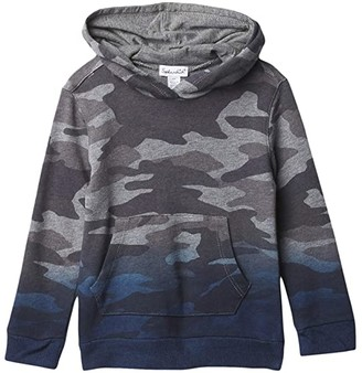 Splendid Littles Dip-Dye Camo Hooded Top (Toddler/Little Kids/Big Kids) (Charcoal Heather) Boy's Clothing