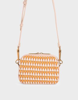 Charles & Keith Woven Crossbody Bag