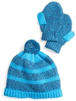 Toddler Boy's Tucker + Tate Hat & Mittens Set - Blue