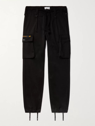 WTAPS Jungle Pleated Cotton-Twill Cargo Trousers - Men - Black