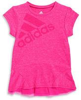 adidas Girls 7-16 Logo Athletic Tee