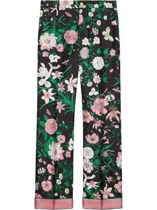 Gucci Floral Print Pants