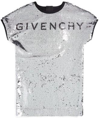 Givenchy Kids Sequin Logo Dress