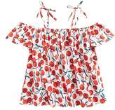 Milly Minis Girl's Eden Off The Shoulder Top