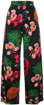 Valentino Tropical Dream palazzo pants - women - Silk/Spandex/Elastane/Lyocell - M