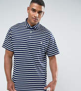 Polo Ralph Lauren Tall Stripe Pima Cotton Polo Slim Fit In Navy