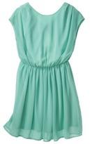 Xhilaration Junior's Open Back Chiffon Dress - Sea Green