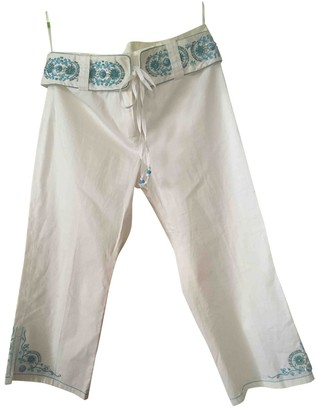Julien Macdonald Julien Mac Donald White Cotton Trousers for Women