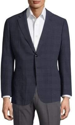 Giorgio Armani Fantasia Plaid Sportcoat