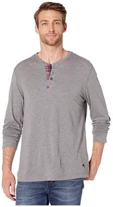 Tommy Bahama Long Sleeve Lounge Henley (Heather Grey) Men's T Shirt