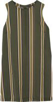 Theory Pinga striped silk-chiffon top