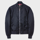 Paul Smith Men's Navy Bomber Jacket With Quilted Lining