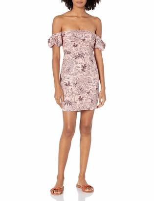 ASTR the Label Women's Off-The-Shoulder Puff Sleeve Raina Mini Dress