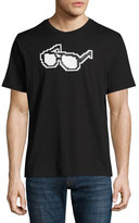 Mostly Heard Rarely Seen 8-Bit Glasses Graphic T-Shirt, Black